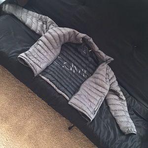 Calvin Klein gray puffy winter jacket